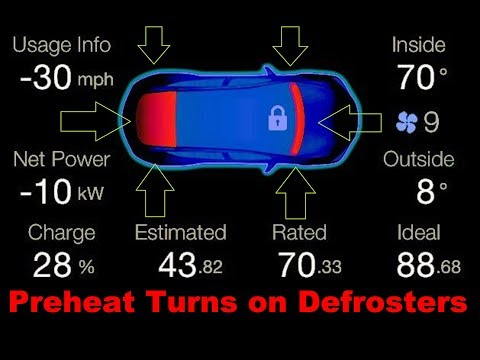 Tesla Pre -Defrost and Heat Battery New Firmware