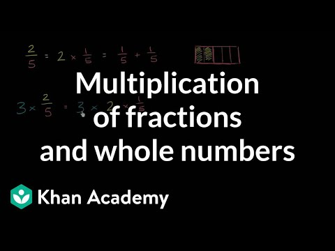 Conceptual understanding of multiplying fractions and whole numbers | Khan Academy