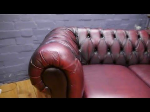 Surprising Classic Chesterfield Rich Brown Leather Sofa Couch Vintage Machost Co Dining Chair Design Ideas Machostcouk