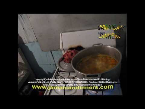 Roast Conch and Fish Sauce (Rodney's Jamaican Birthday Party) part 4