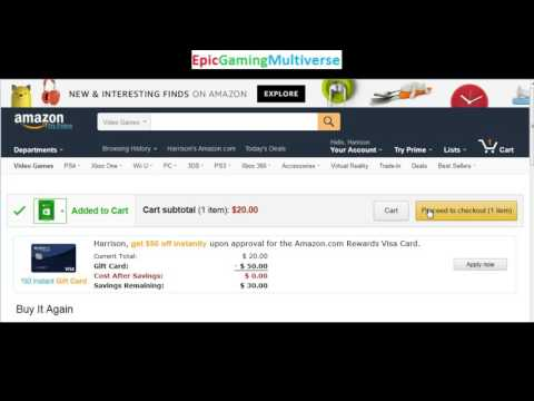 Tutorial For How To Purchase An Xbox Live Gift Card Code Online On Amazon.