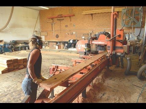 Milling Western Red Cedar Lap Siding on Wood-Mizer LT50