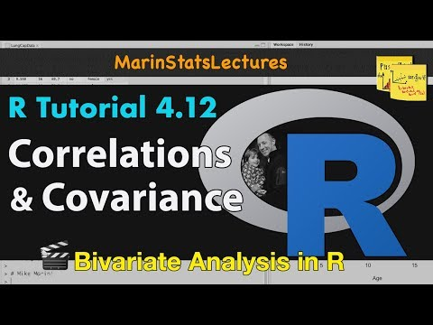 How to Calculate Correlation and Covariance in R (R Tutorial 4.9)