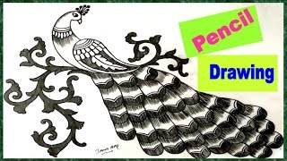 How To Draw Simple Peacock Design Tube10x Net
