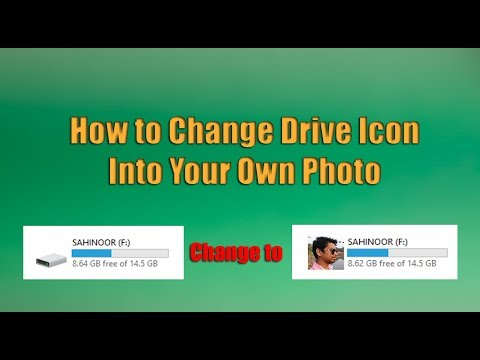 How to Change Drive Icon Into Your Own Photo  Change USB Pen Drive Icon | NoorHUB