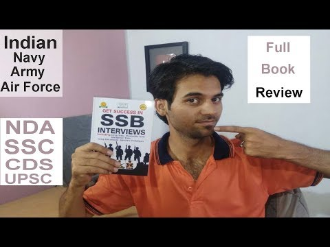 Indian Air Force,Navy,Army SSB Interview Book Review NDA,CDS,SSC,UPSC 2018