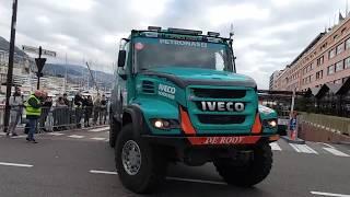 10 Africa Eco Race 2018 partenza auto camion da Montecarlo...spettacolo Iveco 31 dicembre 2017