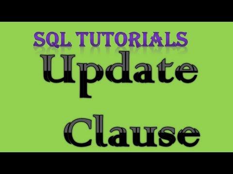 SQL Tutorial 16 Update clause