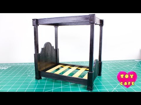 Miniature Four Poster Doll Bed: DIY How-To