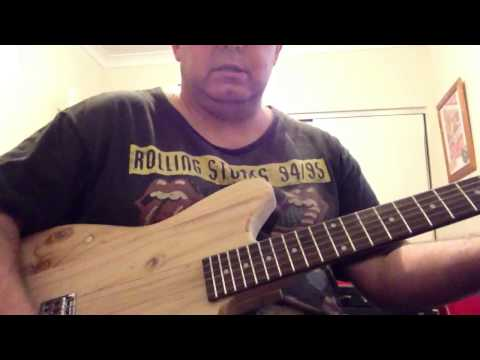 Raw pine body acoustic demo