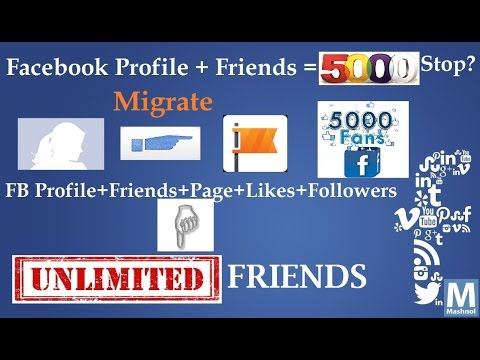 Convert Your Profile Into a Facebook Page to Add More than 5000 Friends as