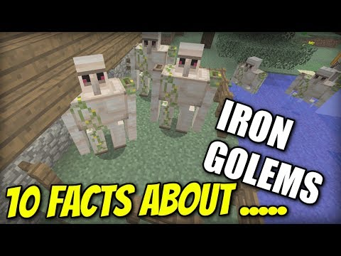 10 FACTS about IRON GOLEMS - Minecraft Xbox - PS4 / PE / PS3 / Wii U / Switch