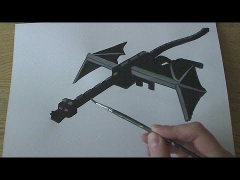How to Draw/Paint Enderdragon - Minecraft EXCLUSIVE