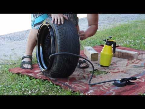 How to mount tires by hand