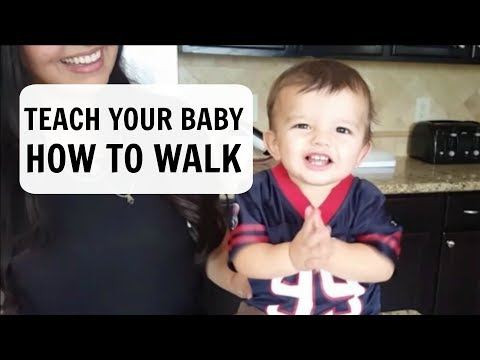 HOW TO TEACH YOUR BABY TO WALK | First time mom
