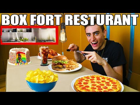 24 HOUR BOX FORT RESTAURANT CHALLENGE!! 📦🍔 FAST FOOD TAKEAWAY!