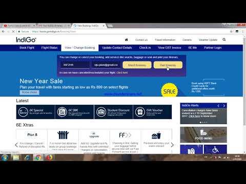 How to print flight ticket online