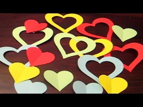 Heart Garland - How To Make A Heart Garland By Paper