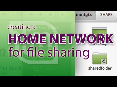 Create a home network for file sharing in Linux Mint