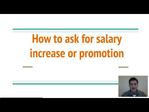 How to ask for a Salary Increase and Promotion
