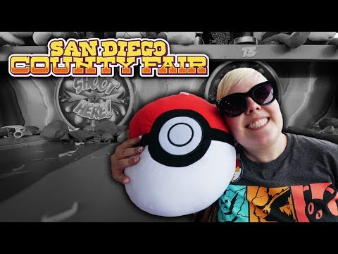 Pokemon carnival game wins and mystery bags at the San Diego County Fair!