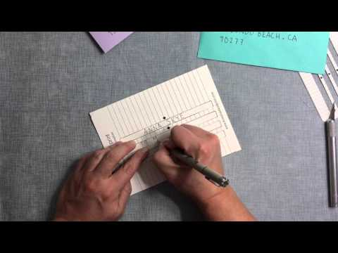 DIY Envelope Addressing Template
