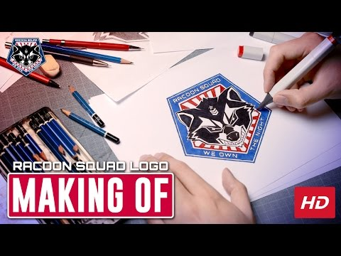 Making of a airsoft team logo - Racoon Squad Airsoft