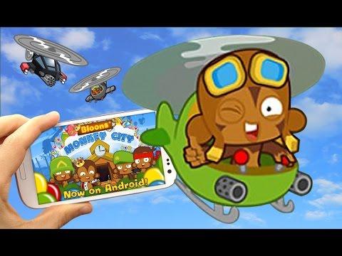 BMC Mobile - City Level 12 - Heli Pilot Crash Site Mission - Bloons Monkey City