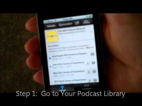 How to Delete a Podcast from Your iPhone
