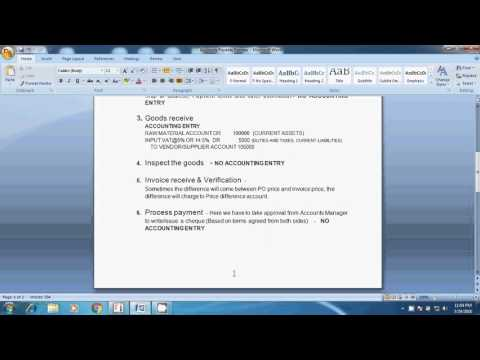 Accounts Payable Process, Purchase entry, reconciliation