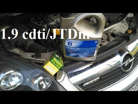 How to change oil on 1.9 cdti/JTDm - Opel Zafira, Astra, Vectra, Alfa Romeo, Fiat, Saab z19dt z19dth