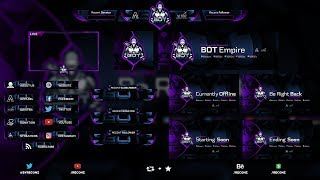 Free Twitch Live Stream Overlay Package Template 2 - Zoomzem com