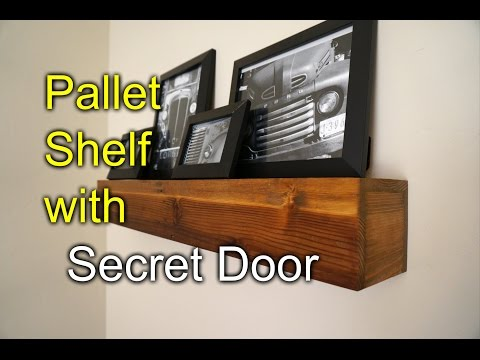 Pallet shelf with secret compartment - Speakeasy Rustic Style!