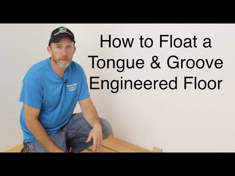 How to float/install a tongue and groove engineered floor-ReallyCheapFloors.com Install Series