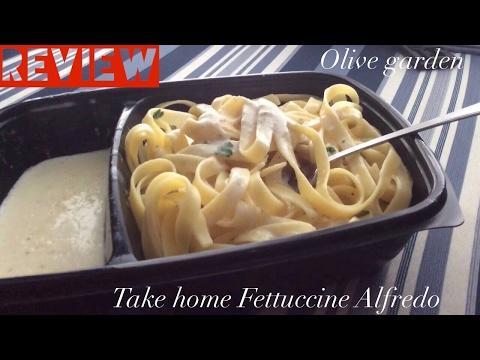 |Review|Take Home Fettuccine Alfredo|Olive Garden|