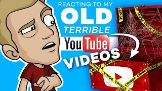 REACTING to my OLD YOUTUBE VIDEOS! *Cringe Warning!!