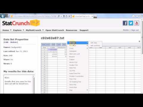 representing qualitative data with summary data