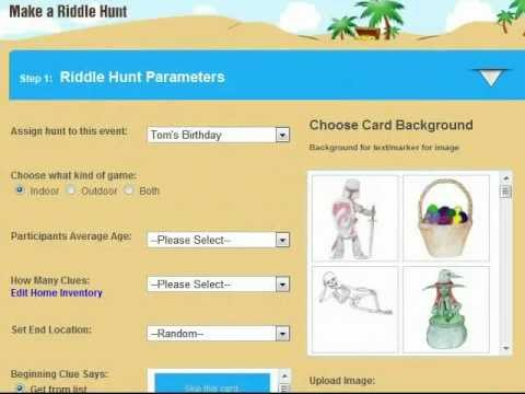 Create a Scavenger Hunt Clue Game with Riddle Me Online