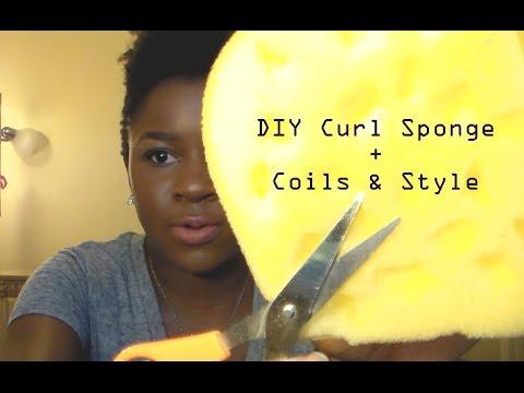 DIY Curl Sponge + Coils on SHORT natural hair!!! |Mona B.