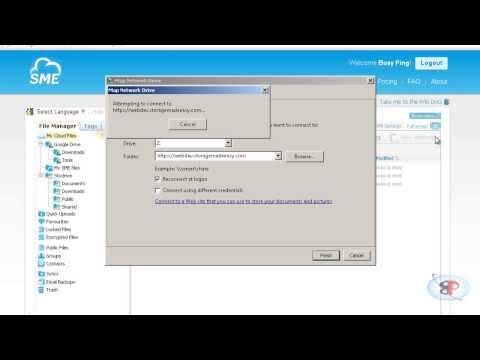 Map Cloud storage as a network drive in Windows for free