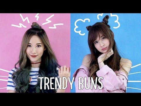 How To: Trendy Buns (Man Bun + Space Buns)