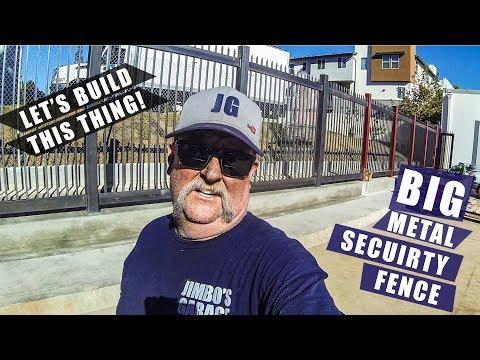 Big Metal Security Fence | JIMBO'S GARAGE