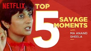 Top 5 savage moments of Ma Anand Sheela   Wild Wild Country