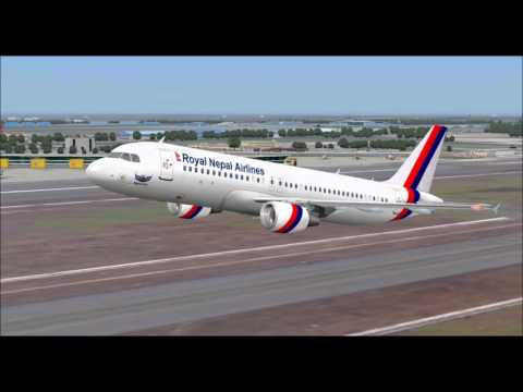 AIRBUS A320  NEPAL AIRLINES TAKE OFF FROM INDIRA GANDHI  AIRPORT FS9 HD