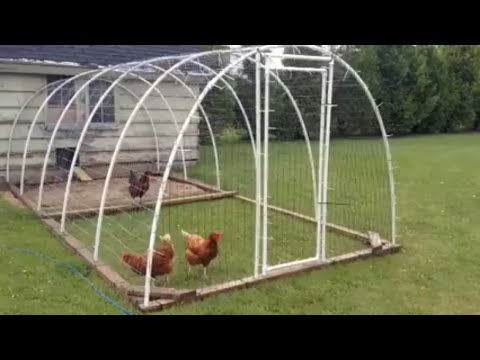 How to make a PVC chicken fence
