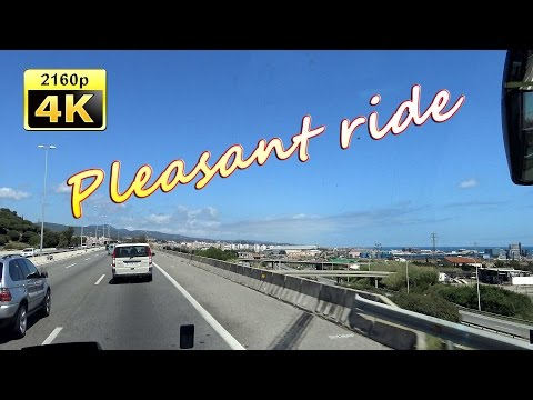from Barcelona to Lloret de Mar by Bus - Spain 4K Travel Channel
