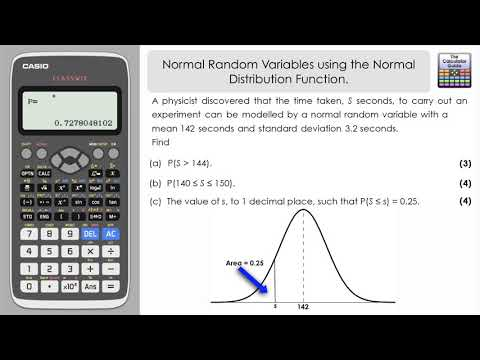 Using Normal Distribution Mode on Casio Classwiz with Normal Random Variables To Find Probabilities