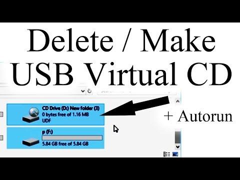 Delete USB Virtual CD Drive, Delete CDFS Partition & Make USB Virtual CD Drive + Autorun