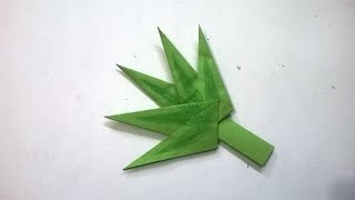 origami cmo hacer una hoja de arbol en papel paper tree leaf