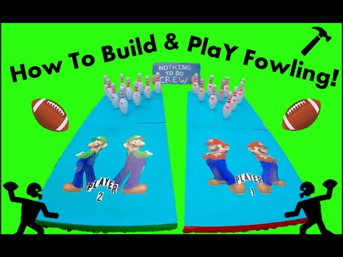 How to build a backyard FOWLING set and how to play.